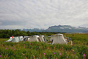 This is where guests stay at Hallo Bay Bear Camp