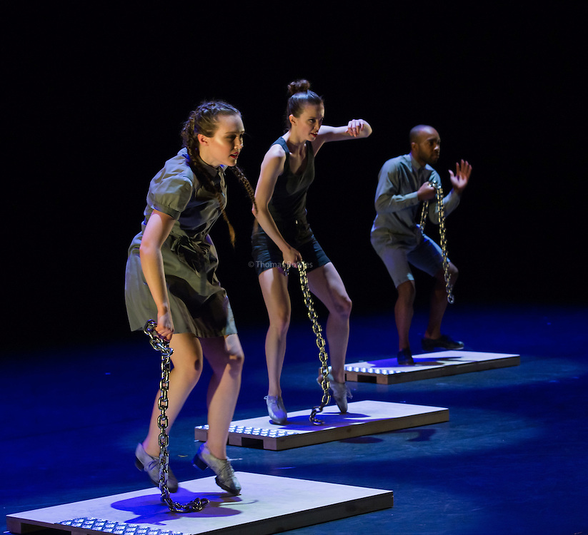 Boards and Chains - Dorrance Dance performed by Elizabeth Burke, Warren Craft, Michelle Dorrance and Byron Tittle- Sadler's Wells, London, 2nd Feb 2017.
