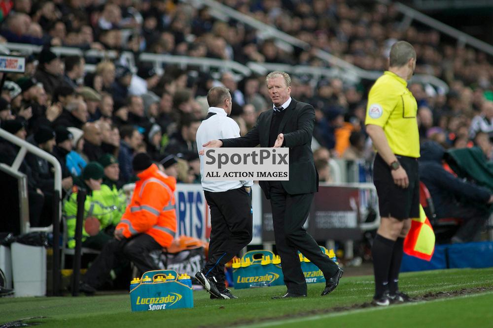 Steve McClaren in the Newcastle v Everton 26 December 2015<br /><br />(c) Russell G Sneddon / SportPix.org.uk