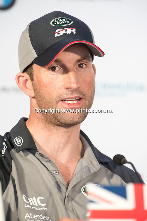 Land Rover BAR (GBR) helmsman, Sir Ben Ainslie. Press conference. Day three of the America's Cup Qualifiers, Bermuda 29/5/2017 . Copyright Image: Chris Cameron / www.photosport.nz