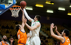 Aleksandar Lazic of Petrol Olimpija during basketball match between KK Petrol Olimpija and KK Helios Suns in Round #9 of Liga Nova KBM 2018/19, on December 14, 2018 in Arena Tivoli, Ljubljana, Slovenia. Photo by Vid Ponikvar / Sportida