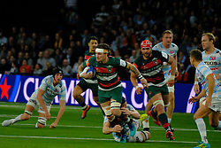 December 9, 2018 - Nanterre, Hauts de Seine, France - Leicester Wing GUY THOMPSTONE in action during the rugby Champions Cup Day 3 between Racing 92 and Leicester at U Arena Stadium in Nanterre - France..Racing 92 Won 36-26. (Credit Image: © Pierre Stevenin/ZUMA Wire)