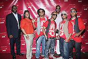l to r: Earl Lucas, Crystal Worthem and R&B sensation, Premier at The Essence Music Festival Community Outreach Program held at The Ernest Morial Convention Center on July 2, 2009 in New Orleans, Louisiana