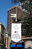 UNITED STATES-BOSTON- Sign. The Freedom Trail. PHOTO: GERRIT DE HEUS. .VERENIGDE STATEN-BOSTON-Een bord geeft de route aan van The Freedom Trail. Een wandelroute lang historische plekken in de stad. ANP PHOTO COPYRIGHT GERRIT DE HEUS