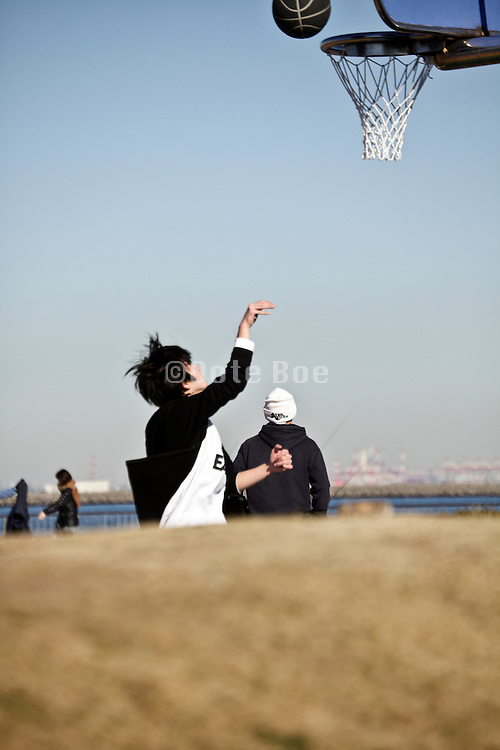 public park with people playing sports Japan Yokosuka