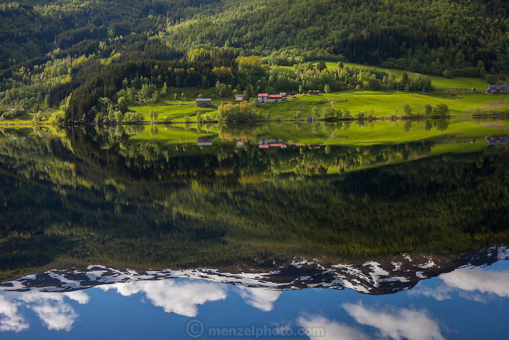Farm land near Voss, Norway.