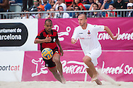 BARCELONA, SPAIN - MAY 03: Barcelona Beach Soccer Cup 2015 at Port Olímpic on May 3, 2015 in Barcelona, Spain. (Photo by Alex Caparrós)