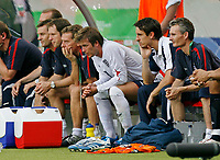 Photo: Glyn Thomas.<br />England v Ecuador. 2nd Round, FIFA World Cup 2006. 25/06/2006.<br /> England's David Beckham (C, head bowed) on the bench after being substituted.