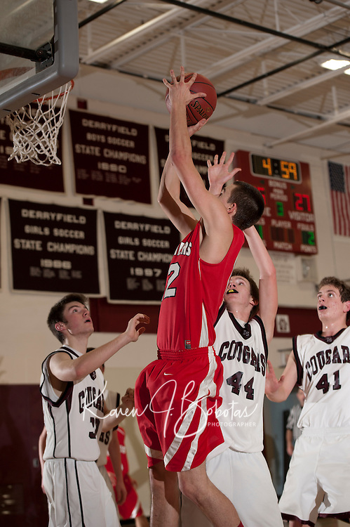 Boys basketball Derryfield versus Pittsfield January 10, 2012.  (Karen Bobotas/ for the Concord Monitor)