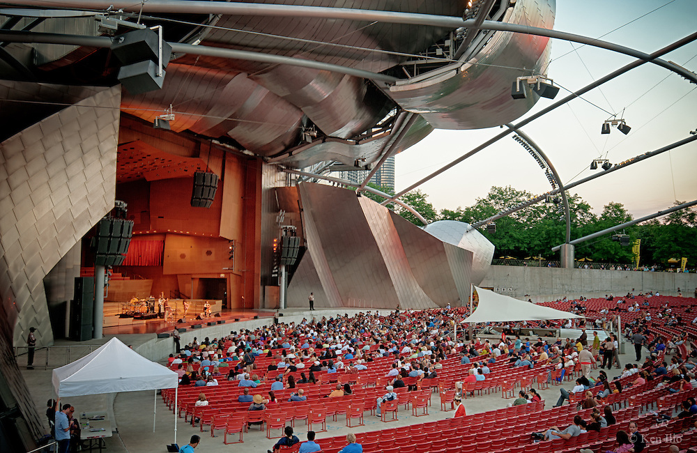 Waiting for the performance to begin, Jay Pritzker Pavilion, summer 2011