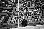 Pole dance is becoming popular in gyms and studios around Latin America. Pin Up Girls Medellin studio is a good example on how latin women get fit with this new form of performing art, a combination of dance and gymnastics, previouly known only in strip clubs. ..  MR photos.