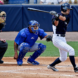 Feb 28, 2013; Tampa, FL, USA; New York Yankees right fielder Ichiro Suzuki (31) grounds out against the Toronto Blue Jays during the bottom of the third inning of a spring training game at George Steinbrenner Field. Mandatory Credit: Derick E. Hingle-USA TODAY Sports