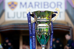 Trophy during football match between NK Maribor and NK Domzale of 36th - Last Round of 1st Slovenian football league PrvaLiga, on May 29, 2011 in Stadium Ljudski vrt, Maribor, Slovenia. (Photo By Vid Ponikvar / Sportida.com)