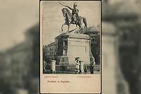 Pozdrav iz Zagreba : Jelačićev spomenik = Le monument Jelačić. <br /> <br /> ImpresumZagreb : Naklada tiskare A. Brusina, [prije 1905].<br /> Materijalni opis1 razglednica : tisak ; 14 x 9 cm.<br /> NakladnikTiskara A. Brusina<br /> Vrstavizualna građa • razglednice<br /> ZbirkaZbirka razglednica • Grafička zbirka NSK<br /> ProjektPozdrav iz Hrvatske • Pozdrav iz Zagreba<br /> Formatimage/jpeg<br /> PredmetZagreb –– Trg bana Josipa Jelačića<br /> SignaturaRZG-JEL-19<br /> Obuhvat(vremenski)20. stoljeće<br /> NapomenaPoleđina razglednice je namijenjena samo za adresu. • Razglednica nije putovala.<br /> PravaJavno dobro<br /> Identifikatori000952432<br /> NBN.HRNBN: urn:nbn:hr:238:027389 <br /> <br /> Izvor: Digitalne zbirke Nacionalne i sveučilišne knjižnice u Zagrebu