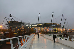 A general view of the Etihad Stadium - Mandatory byline: Matt McNulty/JMP - 07966386802 - 21/10/2015 - FOOTBALL - Etihad Stadium -Manchester,England - Manchester City v Sevilla - UEFA Champions League - Group D