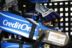 March 10, 2018 - Avondale, Arizona, United States of America - March 10, 2018 - Avondale, Arizona, USA: Kyle Larson (42) straps into his car to practice for the Ticket Guardian 500(k) at ISM Raceway in Avondale, Arizona. (Credit Image: © Chris Owens Asp Inc/ASP via ZUMA Wire)