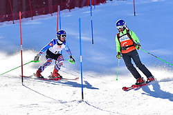 KUBACKA Marek, Guide: ZATOVICOVA Maria, B1, SVK, Slalom at the WPAS_2019 Alpine Skiing World Cup Finals, Morzine, France