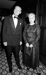 CHRISTOPHER FRENCH and DAME ELIZABETH BUTLER-SLOSS at a dinner in London in February 1994.