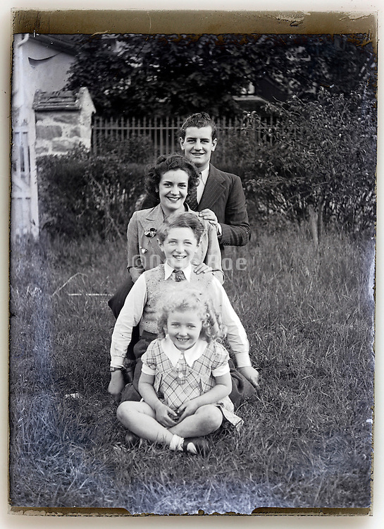 glass plate with happy family moment