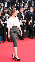 Monia Choukri attends the gala screening of Lawless at the 65th Cannes Film Festival. The screenplay for the film Lawless was written by Nick Cave and Directed by John Hillcoat. Saturday 19th May 2012 in Cannes Film Festival, France.
