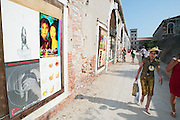 VENICE, ITALY..50th Biennale of Venice.Arsenale..Wall art..(Photo by Heimo Aga)