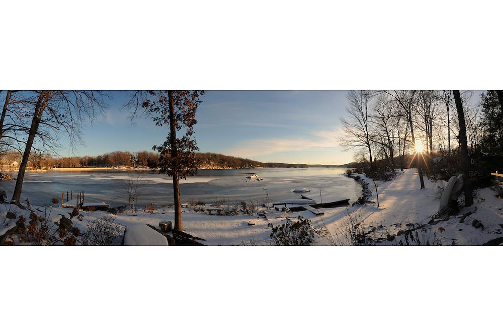 Winter Panorama, Highland Lakes New Jersey.