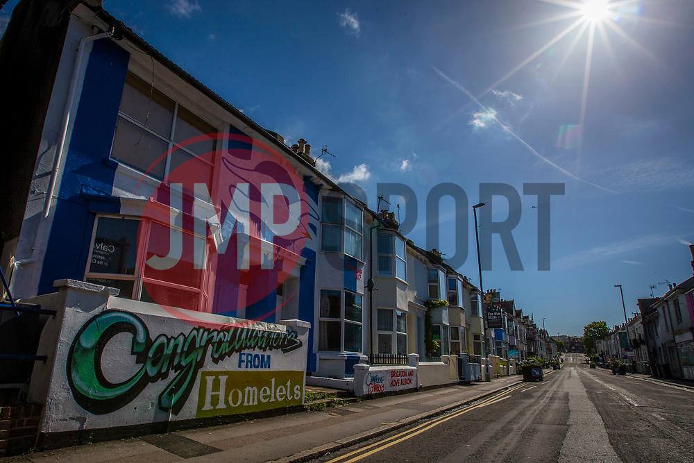 Brighton house painted in club colours in the city  - Mandatory by-line: Jason Brown/JMP - 14/05/17 - FOOTBALL - Brighton and Hove Albion, Sky Bet Championship 2017 - Brighton and Hove Albion Promotion Parade