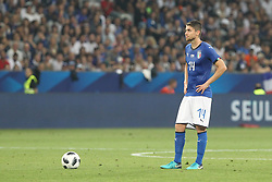 June 1, 2018 - Paris, Ile-de-France, France - Jorginho (Italy) during the friendly football match between France and Italy at Allianz Riviera stadium on June 01, 2018 in Nice, France..France won 3-1 over Italy. (Credit Image: © Massimiliano Ferraro/NurPhoto via ZUMA Press)