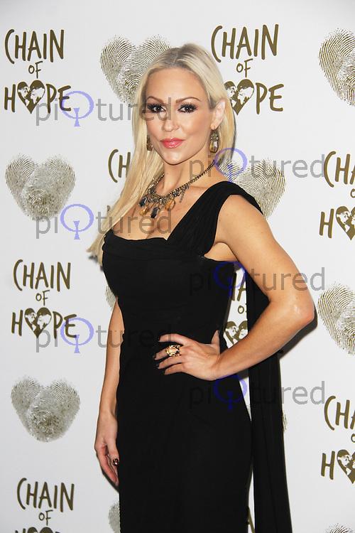 Kristina Rihanoff, Chain of Hope Annual Ball 2014, Grosvenor House, London UK, 21 November 2014, Photo By Brett D. Cove