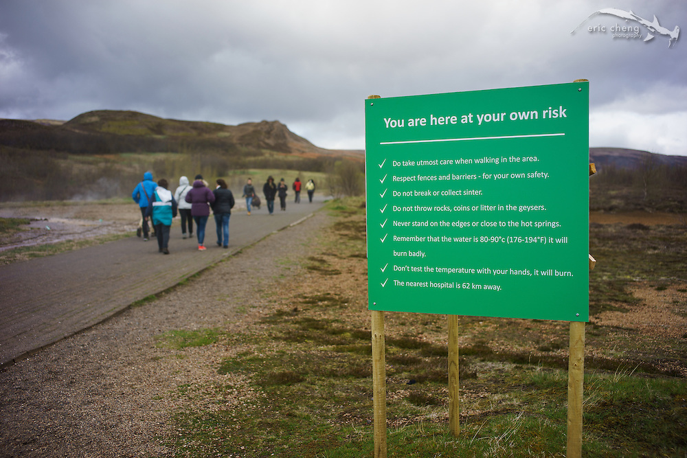 I love that Iceland isn't a nanny state! (at Geysir)