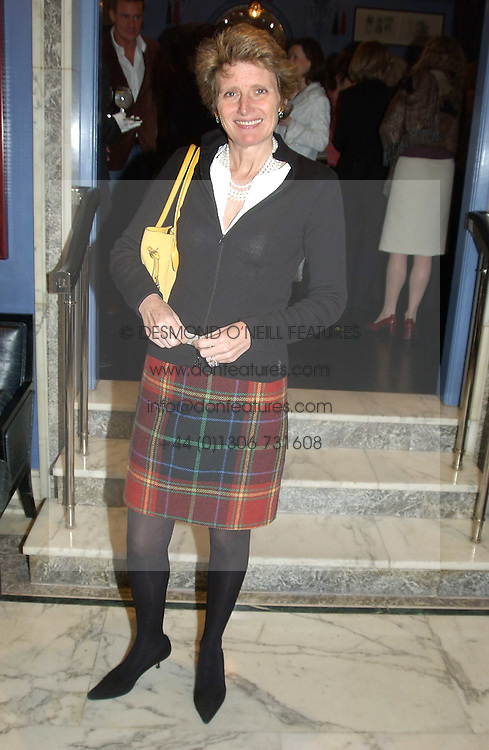 LADY KENILWORTH at a fashion show with designs by Irish designer Louise Kennedy held in the Blue Bar, Berkeley Hotel, London on 12th May 2005.<br />