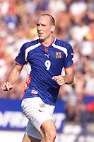 Fotball, Borussia Dortmund's Jan Koller in action for the Czech Republic against South Korea in Drnovice.  (Foto: Digitalsport).