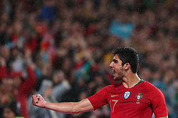 June 7, 2018 - Lisbon, Portugal - Portugal's forward Goncalo Guedes celebrates after scoring his second goal during the FIFA World Cup Russia 2018 preparation football match Portugal vs Algeria, at the Luz stadium in Lisbon, Portugal, on June 7, 2018. (Credit Image: © Pedro Fiuza via ZUMA Wire)