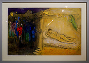 paintings by Marc Chagall at the Municipal Art Gallery of Chania, Crete, Greece