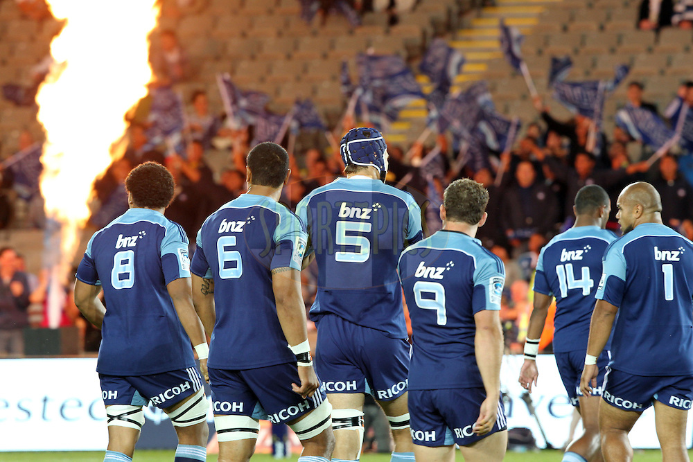 Happy Blues. Investec Super Rugby - Blues v Waratahs, Eden Park, Auckland, New Zealand. Saturday 16 April 2011. Photo: Clay Cross / photosport.co.nz
