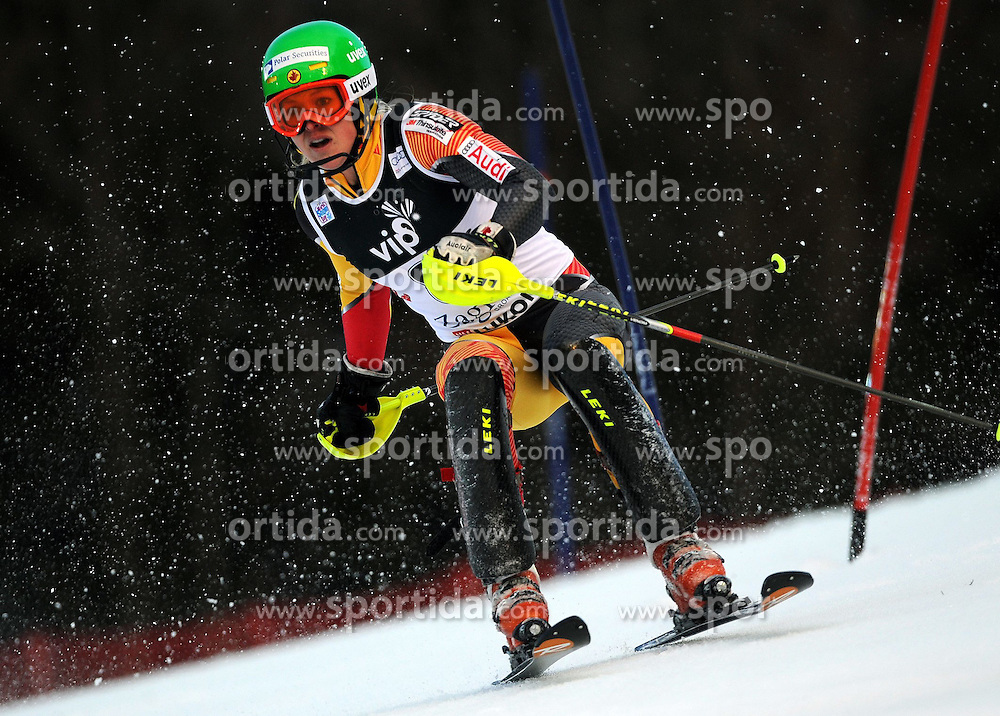 04.01.2013, Crveni Spust, Zagreb, AUT, FIS Ski Alpin Weltcup, Slalom, Damen, 1. Lauf, im Bild Michaela Kirchgasser (AUT) // Michaela Kirchgasser of Austria  in action during 1st Run of the ladies Slalom of the FIS ski alpine world cup at Crveni Spust course in Zagreb, Croatia on 2013/01/04. EXPA Pictures © 2013, PhotoCredit: EXPA/ Erich Spiess