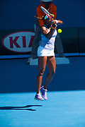 Sloane Stephens in match play at the 2013 Australian Open Grand Slam tennis tournament