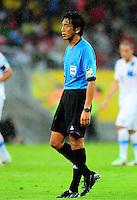 Fifa Brazil 2013 Confederation Cup / Group B Match / <br /> Spain vs Uruguay 2-1 ( Arena Pernambuco Stadium - Recife , Brazil )<br /> The Referee - Yuichi NISHIMURA , during the match between Spain and Uruguay