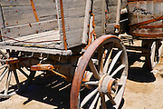 Wagon at the Borax Museum at Furnace Creek Ranch, Death Valley National Park. California