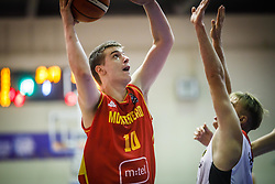 Tomasevic  Bojan of Montenegro during basketball match between National teams of Germany and Montenegro in the 11th place Classifications of FIBA U18 European Championship 2019, on August 4, 2019 in Portaria Hall, Volos, Greece. Photo by Vid Ponikvar / Sportida