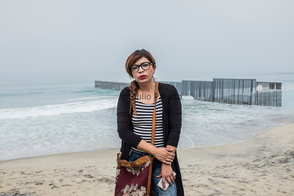 Artist and activist Gaba Cortes, 41 years old. Original from Mexico City. Since 20 years She moved to Tijuana in order to help deported mexicans and refugees with the NGO Border Angels.
