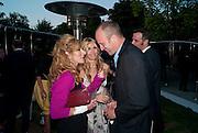Kelly Hoppen; Melissa Odabash; Johnny Shand-Kydd, 2009 Serpentine Gallery Summer party. Sponsored by Canvas TV. Serpentine Gallery Pavilion designed by Kazuyo Sejima and Ryue Nishizawa of SANAA. Kensington Gdns. London. 9 July 2009.