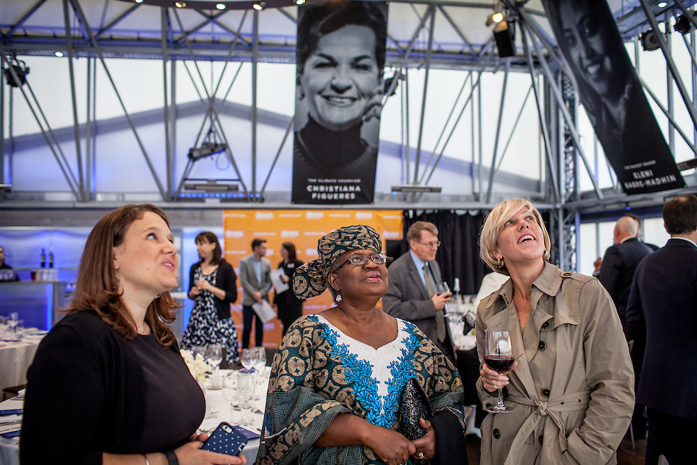 Devex -The media platform for Global Development Industry- does a leadership recognition for five women who are changing the world. They are Christiana Figueres, Eleni Gabre-Madhin, Kristalina Georgieva, Fayeeza Naqvi and Ngozi Okonjo-Iweala. London, Apr. 11, 2016. (Photos/Ivan Gonzalez)