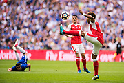 Arsenal midfielder Alex Oxlade-Chamberlain (15) during the The FA Cup Final match between Arsenal and Chelsea at Wembley Stadium, London, England on 27 May 2017. Photo by Sebastian Frej.