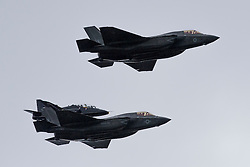 F-35B jets fly over aircraft carriers Rosyth 01/07/2016<br />