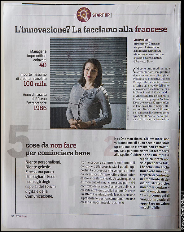 Tearsheet of Panorama Economy, Italian Magazine. 7th of march 2012.