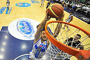 DESCRIZIONE : Supercoppa 2014 Semifinale Dinamo Banco di Sardegna Sassari - Virtus Acea Roma<br /> GIOCATORE : Miroslav Todic<br /> CATEGORIA : Tiro Penetrazione Special<br /> SQUADRA : Dinamo Banco di Sardegna Sassari<br /> EVENTO : Supercoppa 2014<br /> GARA : Dinamo Banco di Sardegna Sassari - Virtus Acea Roma<br /> DATA : 04/10/2014<br /> SPORT : Pallacanestro <br /> AUTORE : Agenzia Ciamillo-Castoria / Luigi Canu<br /> Galleria : Supercoppa 2014<br /> Fotonotizia : Supercoppa 2014 Semifinale Dinamo Banco di Sardegna Sassari - Virtus Acea Roma