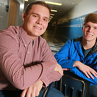 Braeden Martin, left, of Mooreville High School and David Tindoll of Saltillo High School are nominated for the U.S. Presidential Scholars program in Washington D.C.