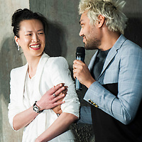 HONG KONG - APRIL 27:  Pablo Ganguli and Rosey Chan during the Liberatum Hong Kong International Festival of Culture press conference at the Lane Crawford Joyce Group headquarters on April 27, 2012 in Hong Kong, Hong Kong.  Photo by Victor Fraile / studioEAST