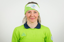 Anamarija Lampic during the outfitting of the Slovenian Olympic Team for PyeongChang 2018, on January 29, 2018 in GH Union, Ljubljana, Slovenia. Photo by Urban Urbanc / Sportida